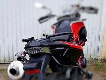 2 Stk Led Motorrad Blinker Laufeffekt Schwarz Carbon Lauflicht Sequentiell SimdaPro Universal E Prüfzeichen & Wasserprüf IP67 ECE V5 Super Optik und Schön Hell - 6