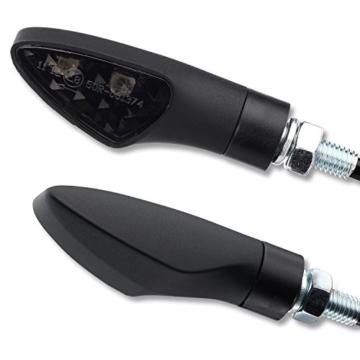 4 x 12V LED Blinker Motorradblinker Shield schwarz smoke getönt E-Zulassung vorne hinten Motorrad Quad ATV Roller Moped - 2