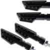 4 x 12V LED Motorrad Blinker Paco vorn hinten schwarz getönt universal Motorradblinker Roller Moped 2 Paar 4 Stück - 1