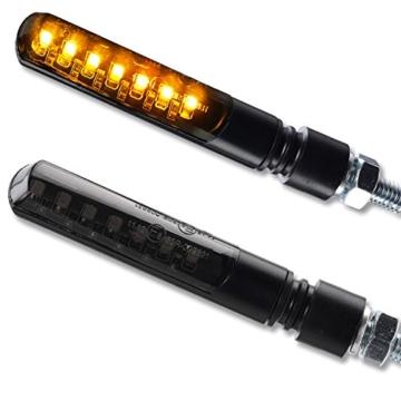 4 x LED Laufeffekt Lauflicht Blinker Motorradblinker Blade Sequentiell schwarz getönt 2 Paar 4 Stück - 2