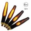 CCAUTOVIE LED Blinker Motorrad E Geprüft Universal LED Blinker Tagfahrlicht Motorrad Blinker Motorrad LED Lauflicht Bernstein E24, 2 Stück - 1