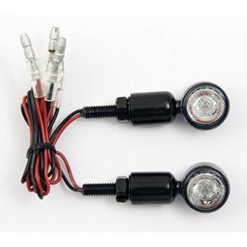 devil eyes Micro LED-Mini-Blinker-Set aus Metall Micro Motorradblinker für Motorrad Quad Scooter Roller ATV E-Geprüft und Eintragungsfrei - 4