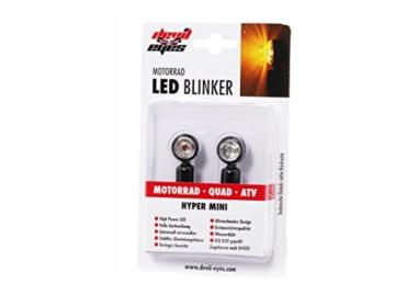 devil eyes Micro LED-Mini-Blinker-Set aus Metall Micro Motorradblinker für Motorrad Quad Scooter Roller ATV E-Geprüft und Eintragungsfrei - 7