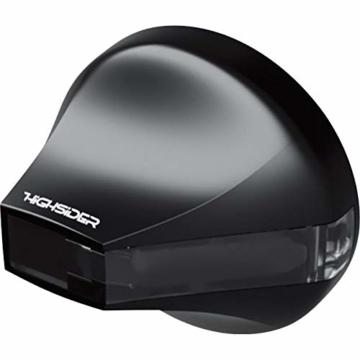 Highsider Motorrad Blinker E geprüft LED Lenkerendenblinkerpaar Flight Alu Ø34,5mm schwarz getönt - 2