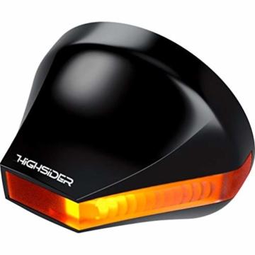 Highsider Motorrad Blinker E geprüft LED Lenkerendenblinkerpaar Flight Alu Ø34,5mm schwarz getönt - 3
