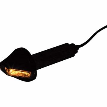 Highsider Motorrad Blinker E geprüft LED Lenkerendenblinkerpaar Flight Alu Ø34,5mm schwarz getönt - 7