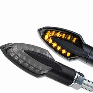 LED Mini Micro Motorrad Blinker Sliver Vinci Schwarz smoke getönt vorn hinten E-geprüft - 1