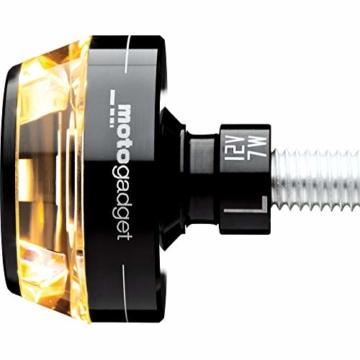 Motogadget Motorradblinker LED Lenkerendenblinker m-Blaze schwarz rechts - 1