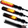 Motorrad LED Lauflicht Laufeffekt Blinker mit Rücklicht Bremslicht Sequentiell Blade schwarz getönt - 1