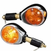 SHIN YO 202-268 Lenkerendenblinker, Chrom/Orange - 1