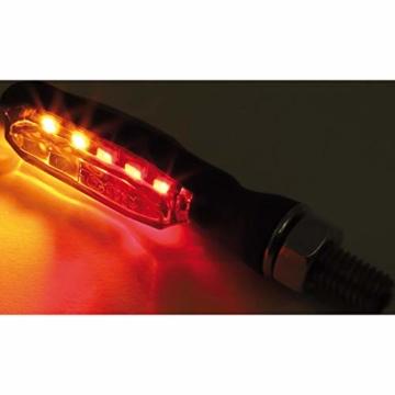 Highsider LED Metall Rücklicht/Blinkerpaar Sonic-X1 M8 getöntes Glas - 6
