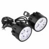 2 stücke motorrad scheinwerfer scheinwerfer led lampe, 12 v 24 watt wasserdicht fahrlicht nebelscheinwerfer mit 4 led weißes licht 3000lm für motorrad e-bike (schwarz) - 1