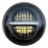 5.75 '' LED Projektions Scheinwerfer für Harley Davidson Sportster Dyna Nightster Wide Glide Street Bob Night Rod usw. 5 3/4 Zoll Runder Motorrad Scheinwerfer mit Tagfahrlicht (Schwarz) - 1
