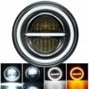 """MONDEVIEW 7"""" LED-Scheinwerfer Für Motorräder Harley Davidson Wrangler 400W 40000LM Chrom DRL Angel Eye 6000K+4300K Bernstein Ultra Classic Electra Street Glide Road King Heritage Softail Deluxe Slim - 1"""