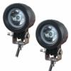 Motorrad Zusatzscheinwerfer LED, EKLAMP 2inch 10W Motorrad Nebelscheinwerfer LED, Scheinwerfer Auto, Arbeitsscheinwerfer Spotlight,6500K IP67 Offroad Zusatzscheinwerfer, Bar Car, ATV(2Pcs) (Round 10W) - 1